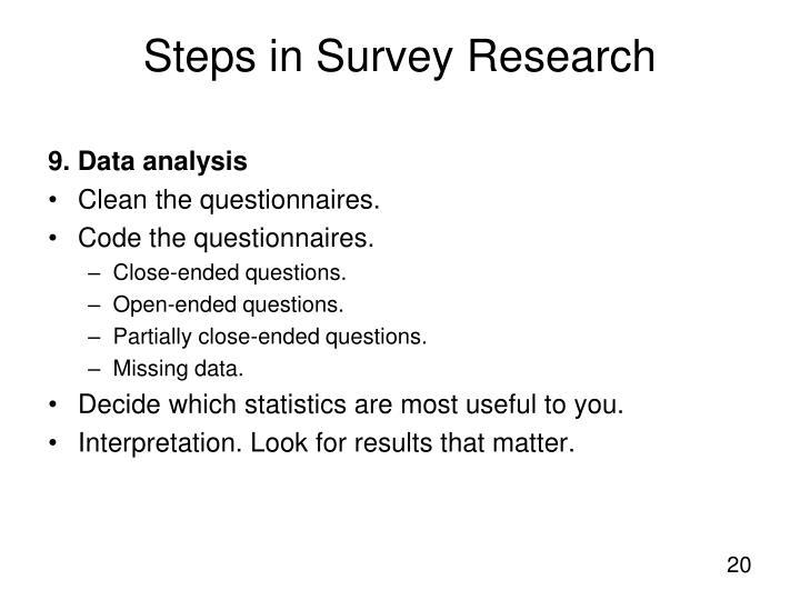 9. Data analysis