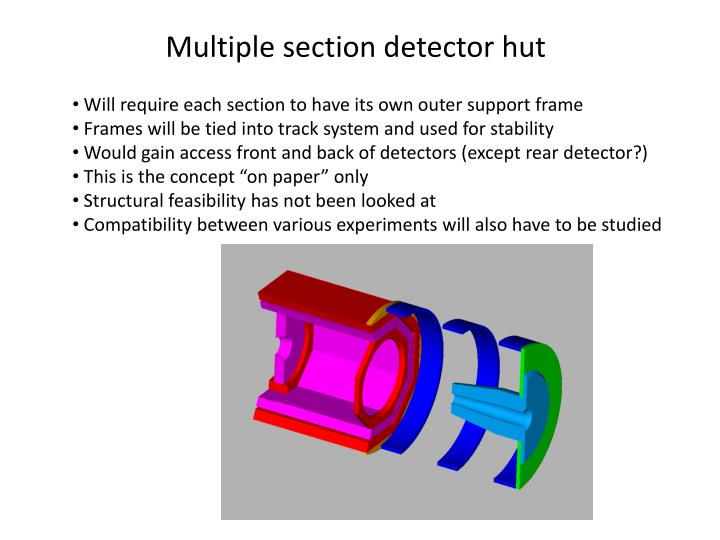 Multiple section detector hut