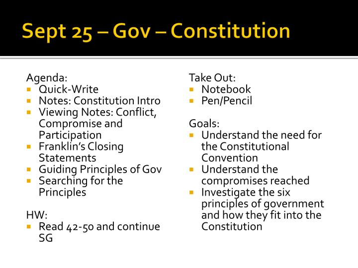 sept 25 gov constitution