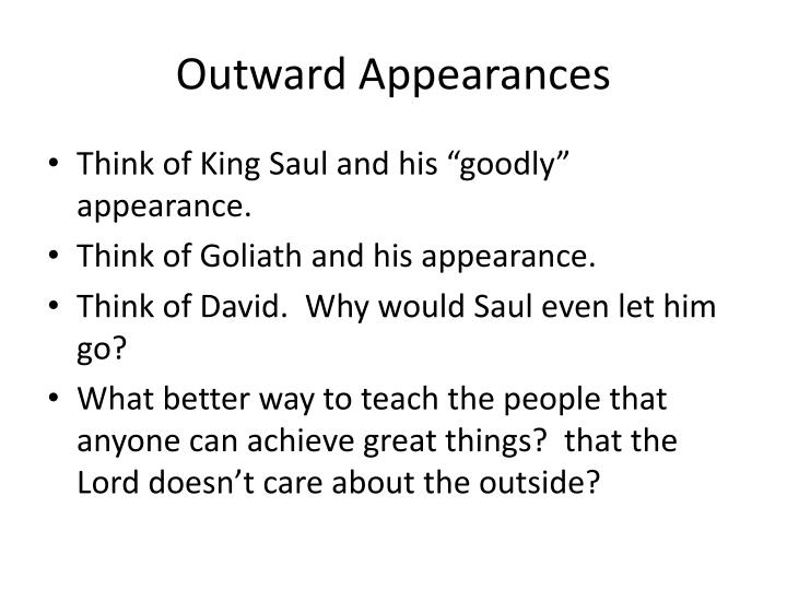 Outward Appearances