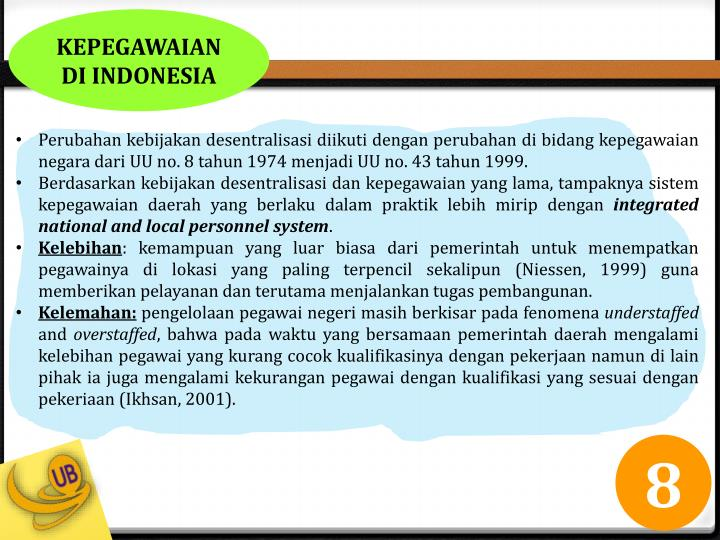 KEPEGAWAIAN DI INDONESIA