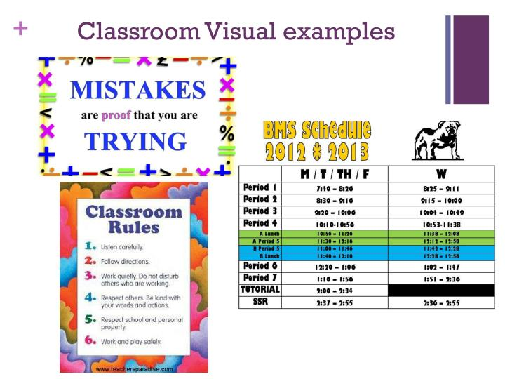 Classroom Visual examples