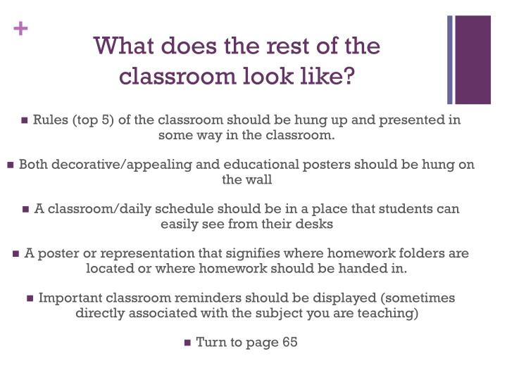 What does the rest of the classroom look like?