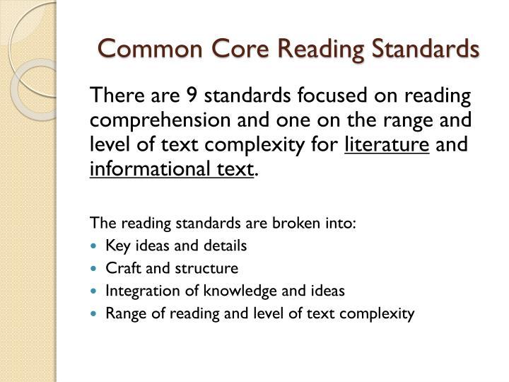 Common Core Reading Standards