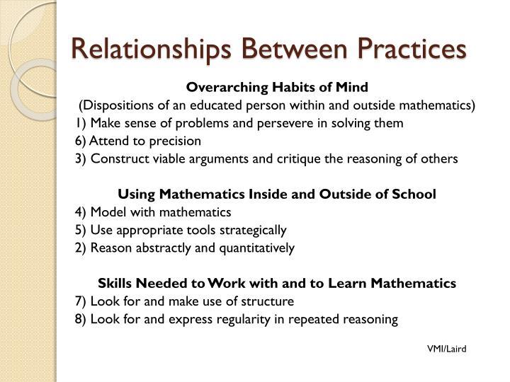 Relationships Between Practices