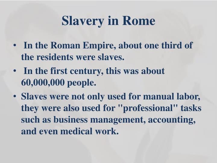 Slavery in Rome