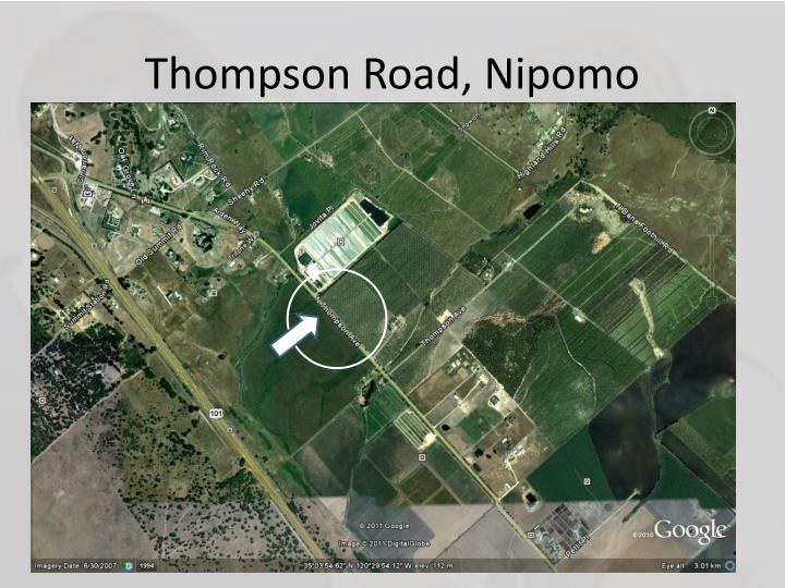 Thompson Road, Nipomo