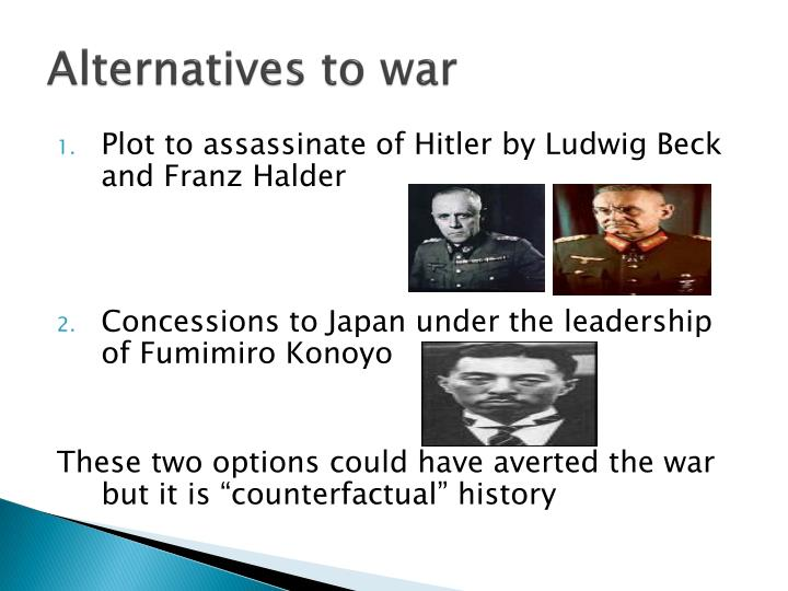 Alternatives to war