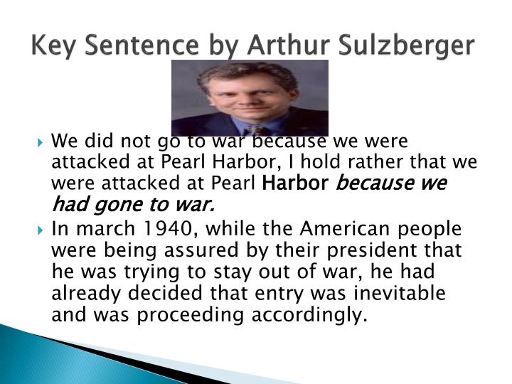 Key Sentence by Arthur Sulzberger