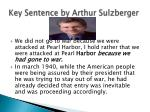 key sentence by arthur sulzberger