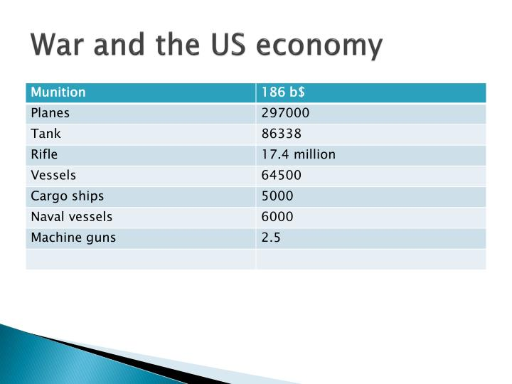 War and the US economy