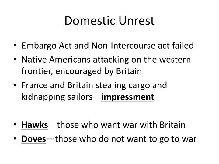 Domestic Unrest