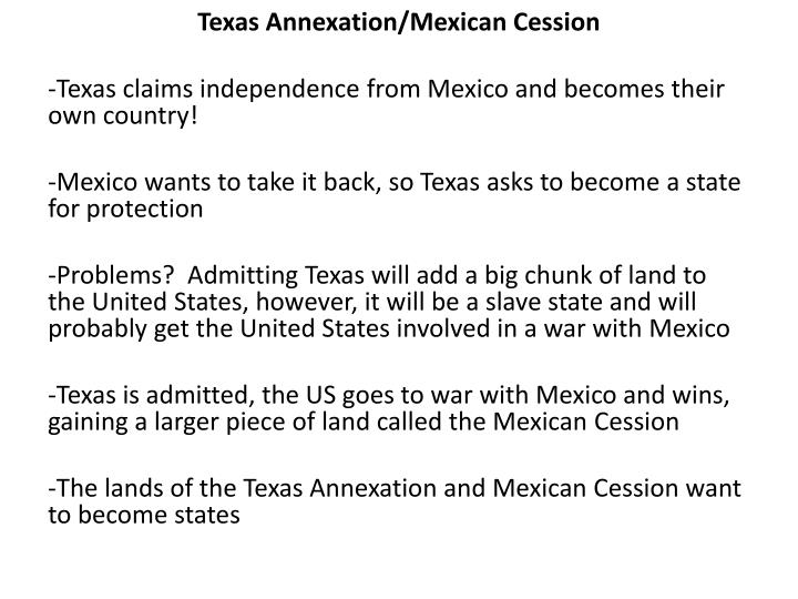 Texas Annexation/Mexican