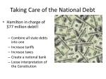 taking care of the national debt