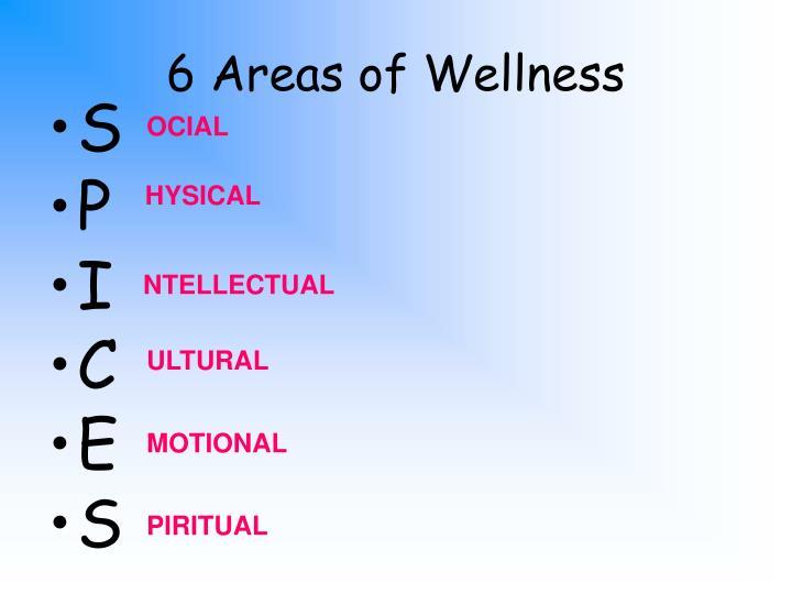 6 Areas of Wellness