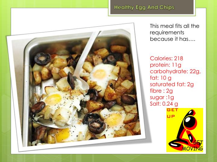 Healthy Egg And Chips