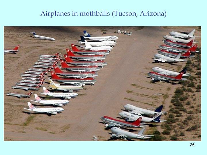 Airplanes in mothballs (Tucson, Arizona)