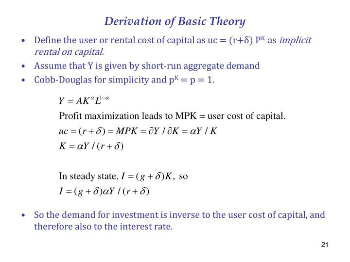 Derivation of Basic Theory