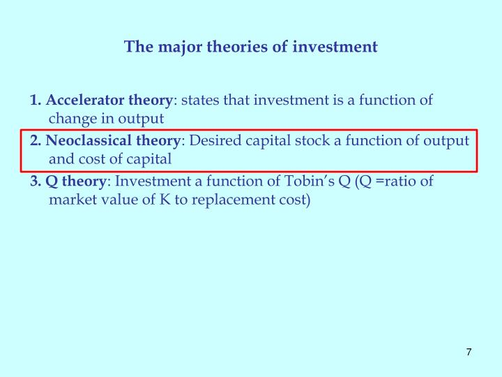 The major theories of investment