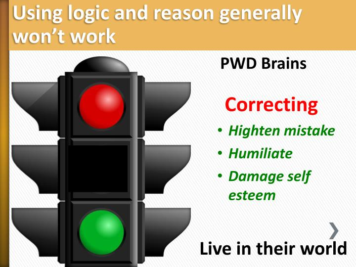 Using logic and reason generally won't work