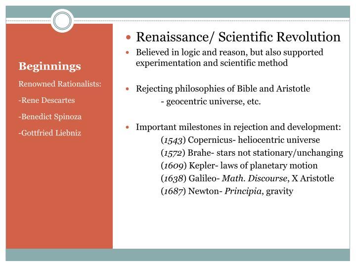Renaissance/ Scientific Revolution