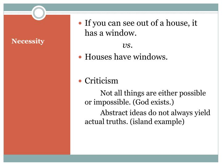 If you can see out of a house, it has a window.