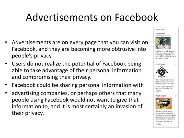 Advertisements on