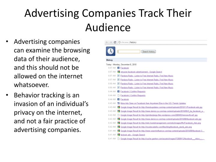 Advertising Companies Track Their Audience