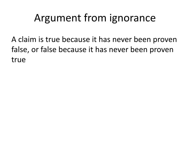 Argument from ignorance