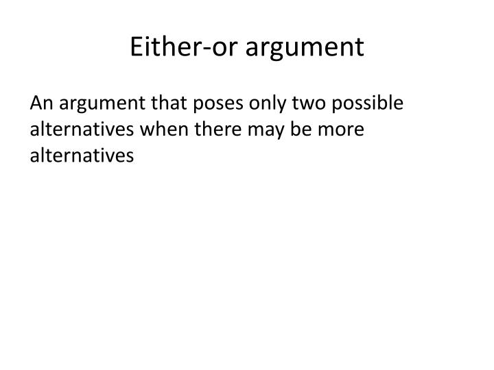 Either-or argument