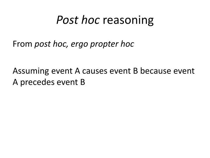 Post hoc