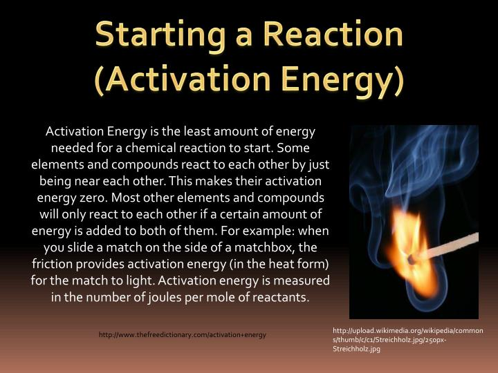 Starting a Reaction