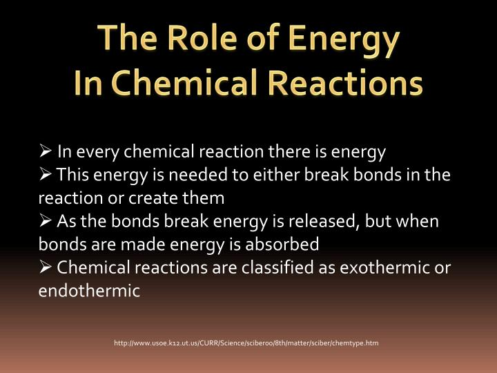 The Role of Energy