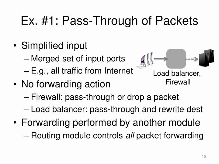 Ex. #1: Pass-Through of Packets