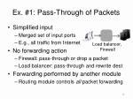 ex 1 pass through of packets