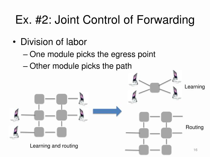 Ex. #2: Joint Control of Forwarding
