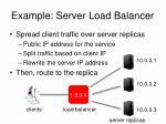 example server load balancer