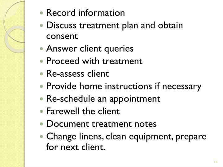 Record information