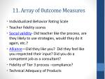 11 array of 0utcome measures