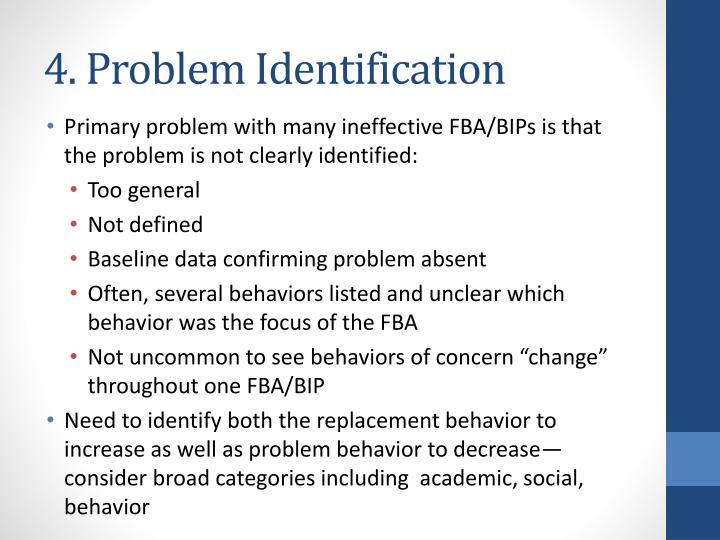 4. Problem Identification