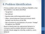 4 problem identification