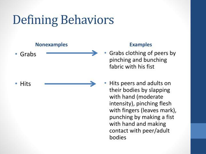 Defining Behaviors