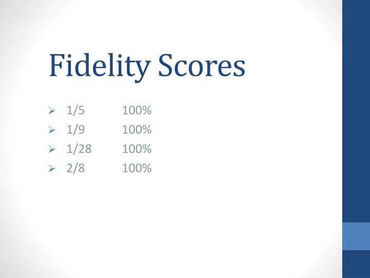 Fidelity Scores