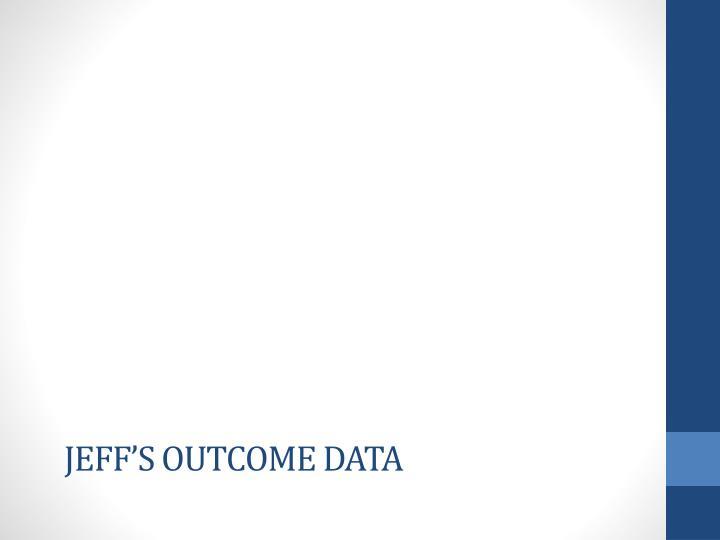 Jeff's outcome data
