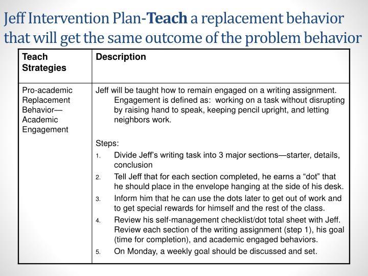 Jeff Intervention Plan-
