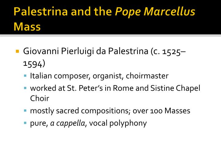 Palestrina and the