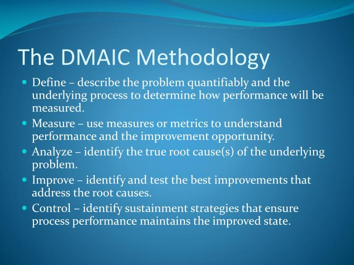 The DMAIC Methodology