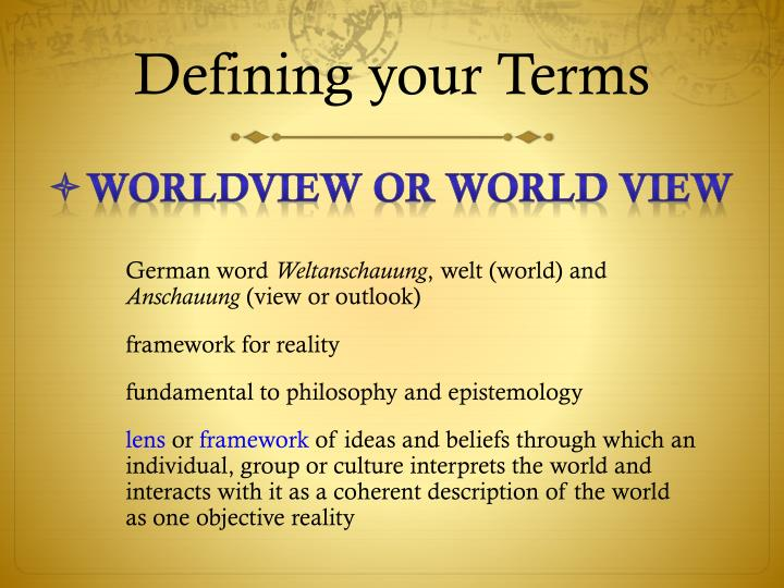 Defining your Terms
