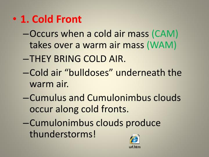 1. Cold Front