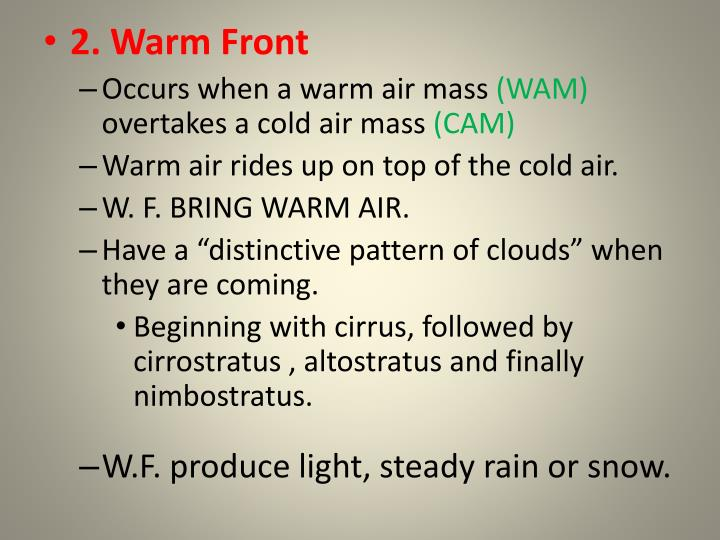 2. Warm Front